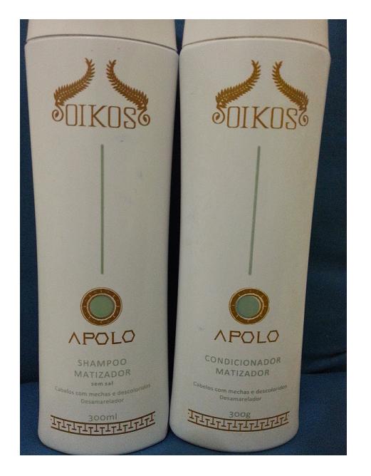 Esse é o shampoo Matizador  sem sal, contém 300g (OIKOS APOLO)