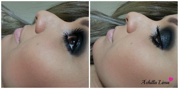 Smokye Eyes Preto com Glitter achilla lima