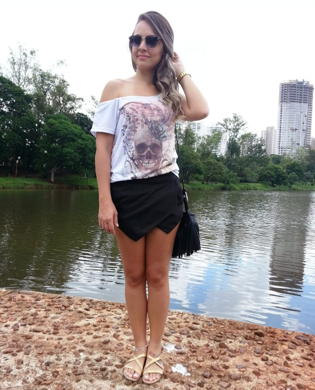 look do dia shorts assimétrico tee clubmaster