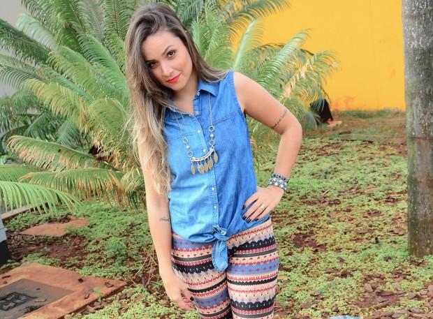 legging étnica colete jeans achilla lima