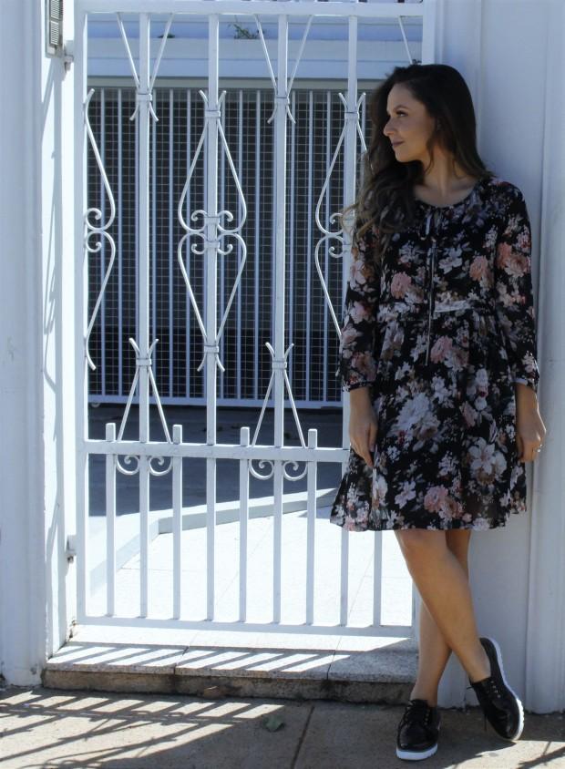 o vestido floral mais lindo